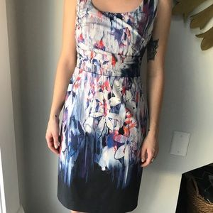 Elie Tahari abstract dress